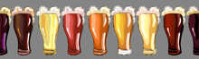 Beers. Seamless Pattern