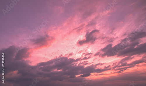 In de dag Candy roze Sky at sunset background.