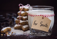 Cookies For Santa With Glass O...