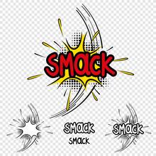 "Vector ""Smack"" Comic Text Illustration"