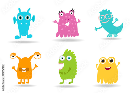 Cute Cartoon Monsters