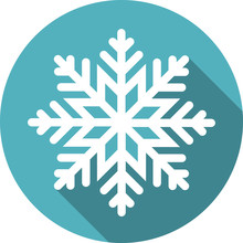 Snowflake Round Icon