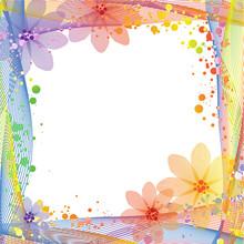 Summer Multicolored Frame Background