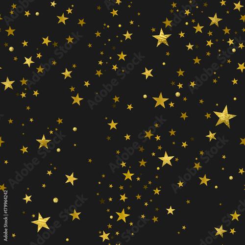 Stoffe zum Nähen Nahtlose Muster von goldenen Sternen