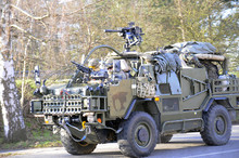 Us Army Convoy, 27.3.2016, Czech Republic, Crossing To Poland From Old Boleslav,The Czech Republic Will Come To The United States Convoy And The British Army Like Stryker, Hummers Or British Jackal