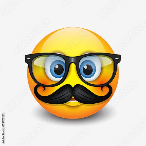 49dbd51fda1 Cute hipster smiling emoticon