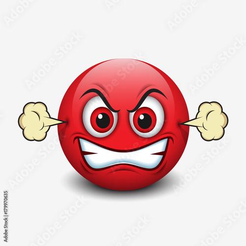 Angry emoticon, emoji