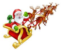 Santa Claus Christmas Reindeer...