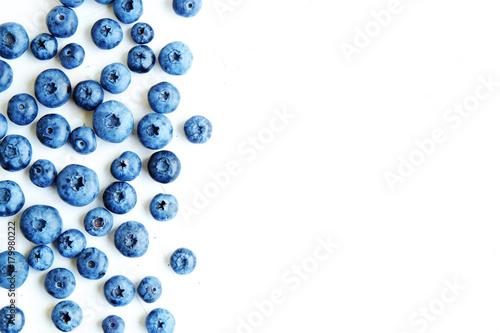 Valokuva  Freshly picked blueberries backgrond
