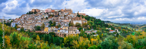 Photo sur Toile Bleu ciel Most beautiful traditional villages (borgo) of Italy - Loreto Aprutino in Abruzzo