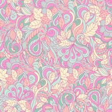 Seamless Pink Paisley Pattern....