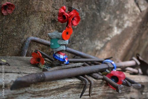 Photo Stands Mountaineering Hellfire pass memorial