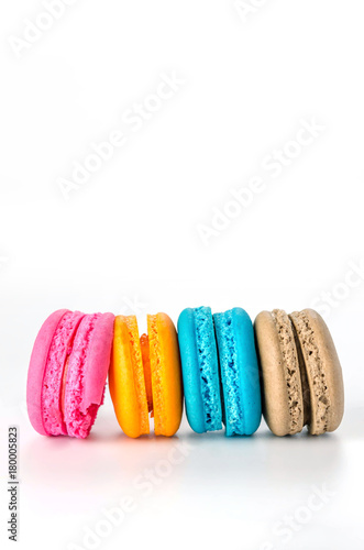 Foto op Canvas Macarons Colorful macaroon dessert