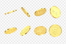 Golden Coins. Realistic Gold M...