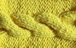 canvas print picture - The texture of the knitted fabric is yellow. Fashionable colors palette – Meadowlark.