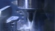 Water cooled drill, drilling in metal