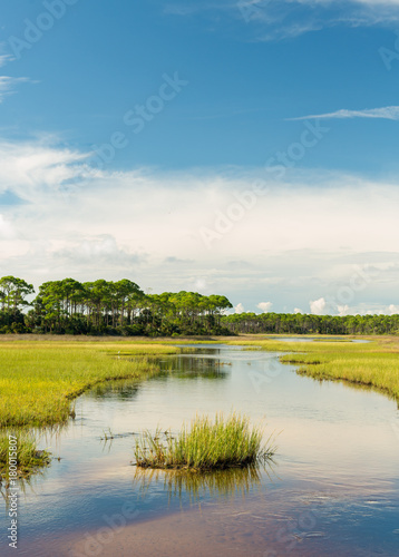 Clouds roll over the Marshlands of northwest Florida