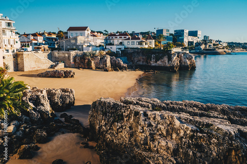 Fotografie, Obraz  Cascais beach in Portugal, famous tourist destination near Lisbon