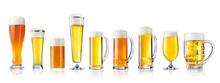 Various Types Of Fresh Beer In...