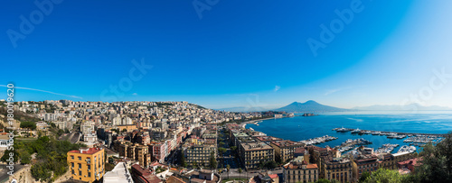 Photo sur Toile Cappuccino Panoramica Napoli