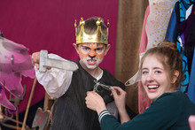 Child Actor Dressed As King We...