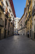 A Typical Narrow Street in Madrid Spain