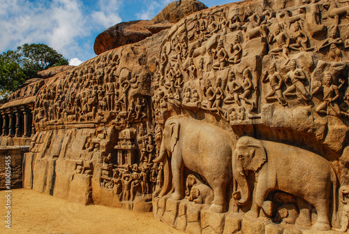 Fotografie, Obraz  India Mahabalipuram Descent of the Ganges