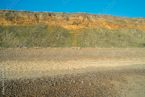 Cliff erosion at Dunwich. Canvas Print