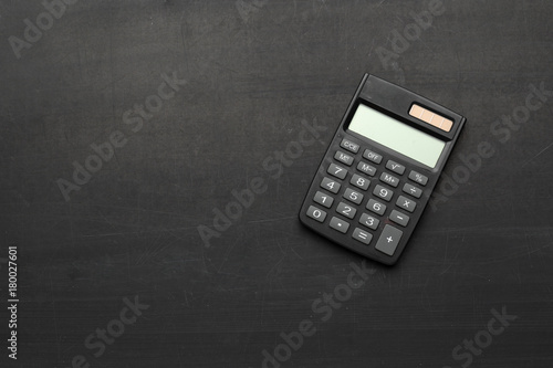 Fotomural  desk table with calculator
