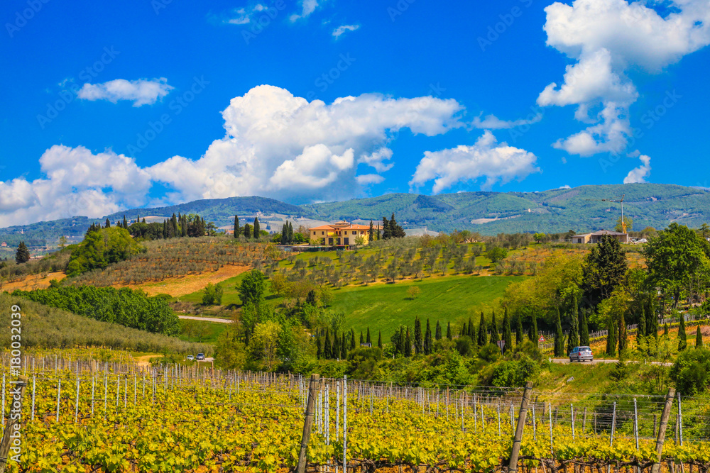 Beautiful landscape in Tuscany, Italy