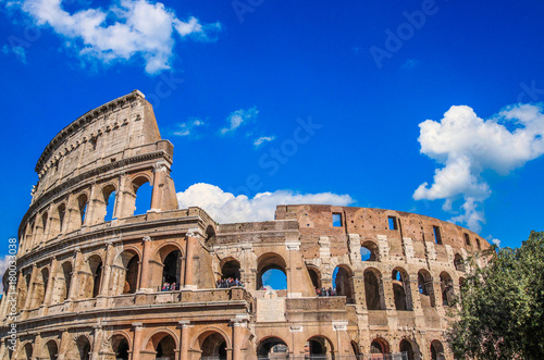 Colosseum in Rome, Italy Tableau sur Toile