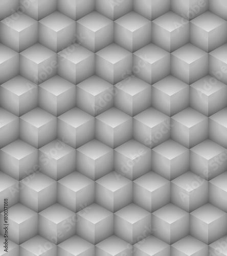 Okleiny na drzwi - Złudzenie optyczne  seamless-white-cubes-wall