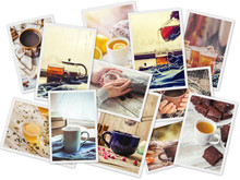 Collage Of Tea. Selective Focu...
