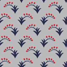 Seamless Pattern With Berries,...
