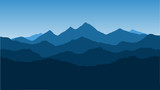 Vector wallpaper with a landscape, a mountain range