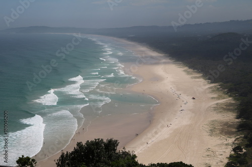 Photo View to Tallow Beach Byron Bay in New South Wales, Australia