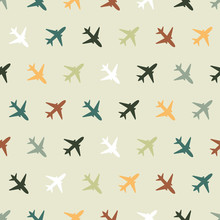 Vector Seamless Pattern With Color Planes For Kids