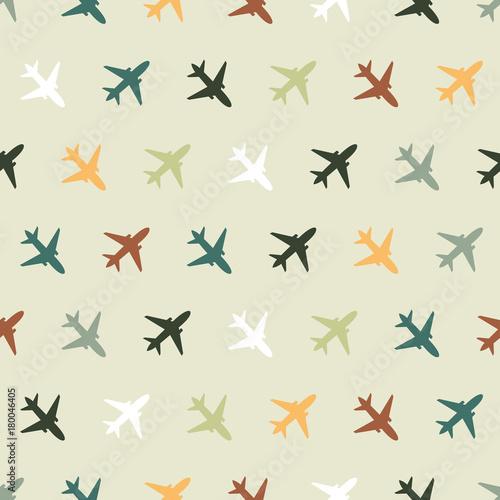 Tapety do pokoju chłopca wektorowy-bezszwowy-wzor-z-kolorow-samolotami