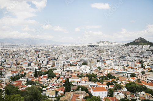 Staande foto Athene Athens,Acropolis,Greece,Europe - 18/07/2017 : Acropolis in Athens on a very hot summer day.