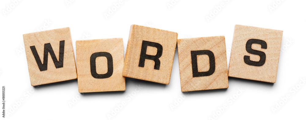 Fototapeta Words