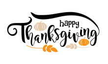 Happy Thanksgiving Text Design...