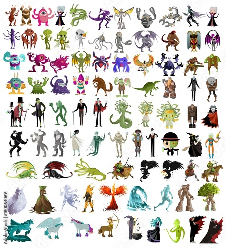 monsters collection Wallpaper Mural