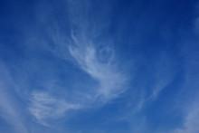青空と雲「空想・雲のモンスター(モンスターの子供が現れるようなイメージ)」(産声を上げる、生まれる、生誕、誕生する、現れるなどのイメージ)