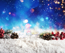 Christmas Element On The Snow ...
