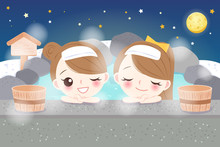 Girls With Hot Spring
