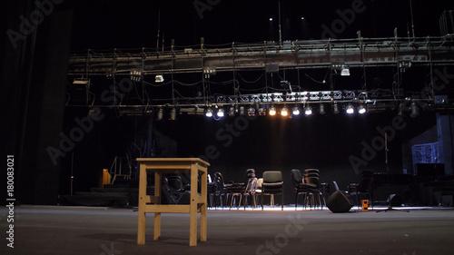 Slika na platnu Stage equipment for a concert