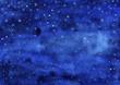 Nachthimmel mit Sternen, gemalt