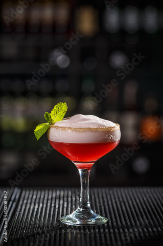 Valokuva Cocktail with egg foam