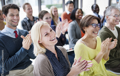 Audience Applaud Clapping Happines Appreciation Training Concept Fotobehang