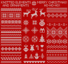 Knitted Elements And Borders F...